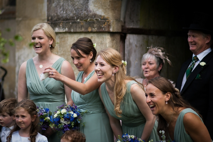 bridesmaids at a wedding in Oxfordshire