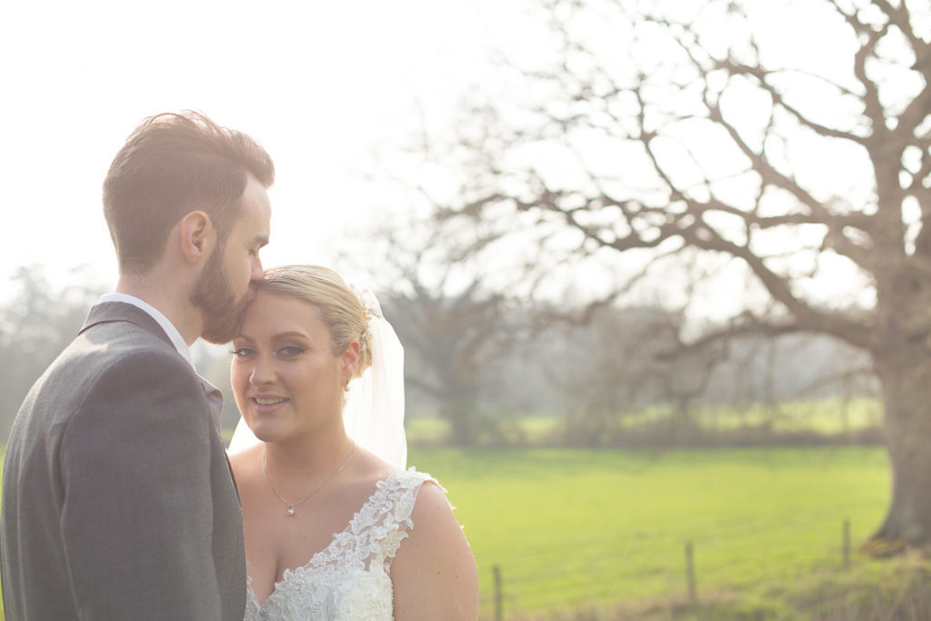 briade and groom at warbrook house, hampshire